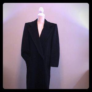 Bill Blass Black 3/4 - full length wool coat